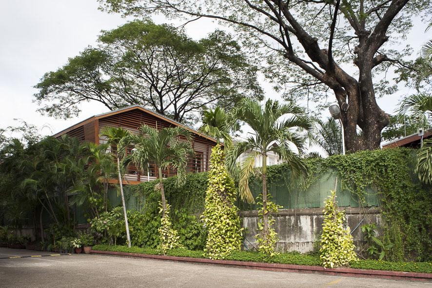 Goethe-Institut Myanmar - Rückansicht des Neubaus,